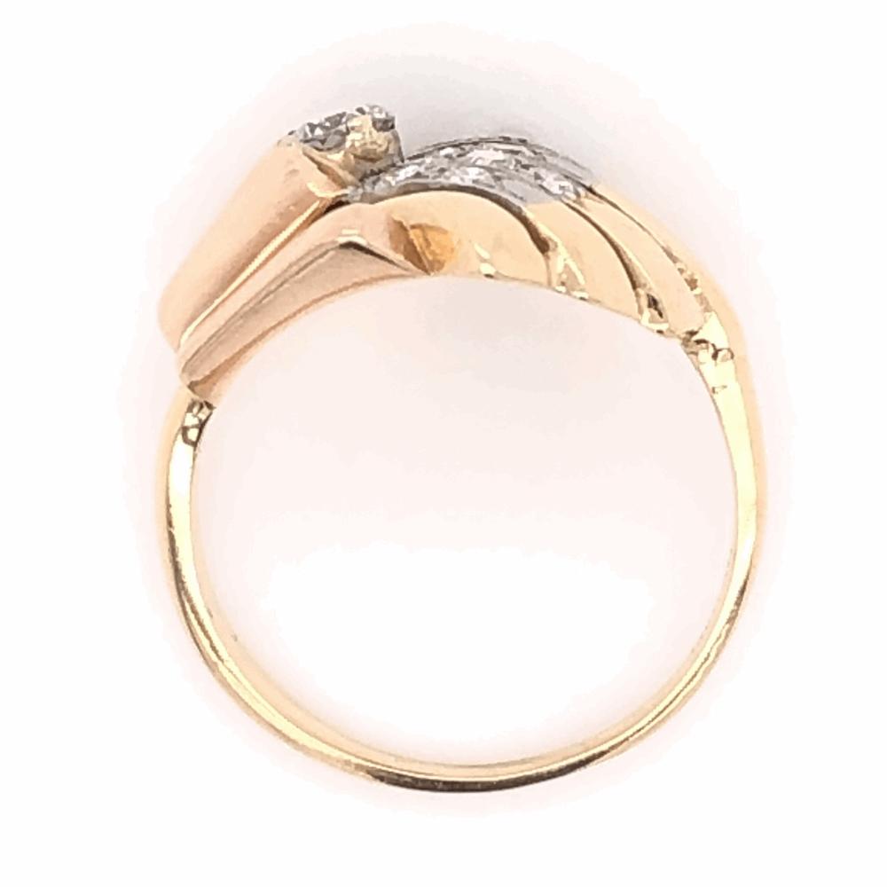 Image 2 for 14K Yellow Gold Retro .52tcw Diamond Spray Ring, s6.5