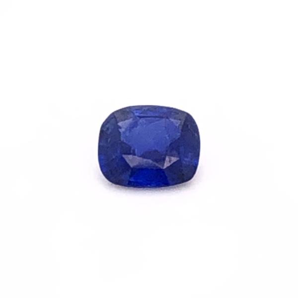 Closeup photo of 1.28ct Modified Cushion Blue Sapphire GIA# 1206046568