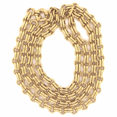Closeup photo of 14K Yellow Gold Fancy Link Chain 29.4g 34""