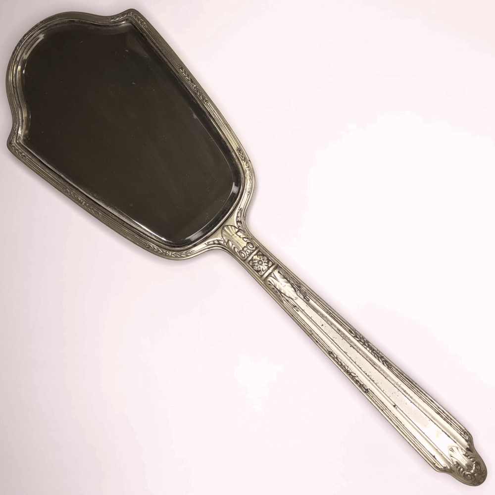 "Image 2 for 925 Sterling GORHAM Antique Hand Mirror 18"" Tall"
