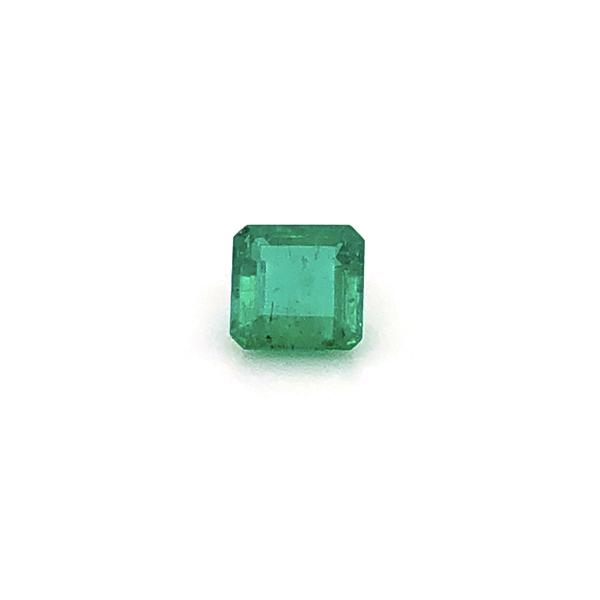 Closeup photo of Platinum 1950's 1.93ct Square Emerald Cut Green Emerald & 2 Baguette's .25tcw, s7