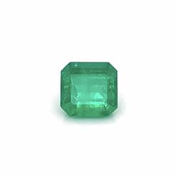 Closeup photo of 4.42ct Square Emerald Cut Green Emerald 10.05x9.75x6.89mm