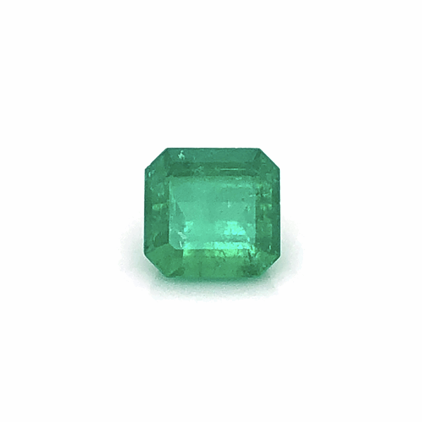 Closeup photo of 4.42ct Square Emerald Cut Green Emerald 10.05x9.75x6.89mm