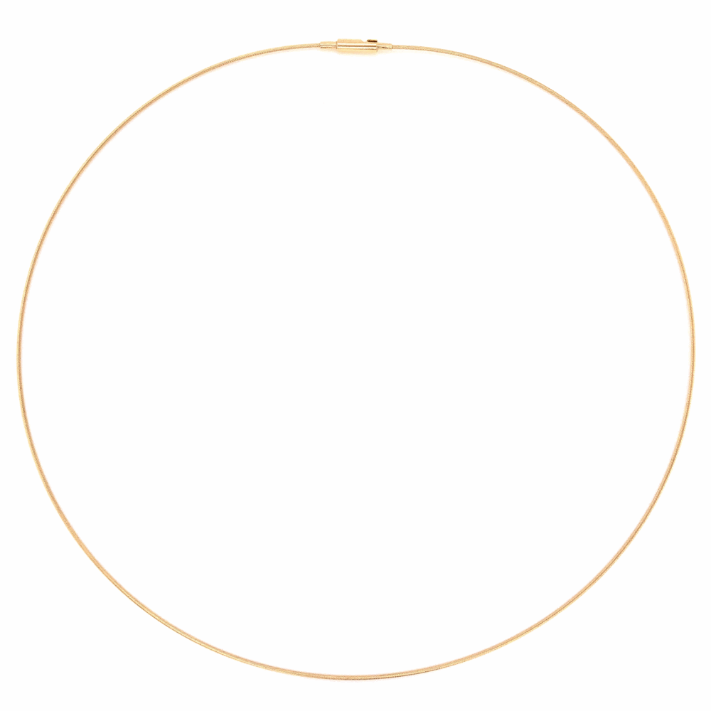 """14K Yellow Gold Thin Rope Omega Chain 2.2g, 16"""""""