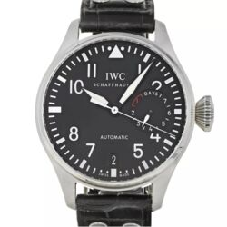 Closeup photo of IWC Big Pilot Stainless Steel 46.2mm Watch 7day Movement $14,300 Retail