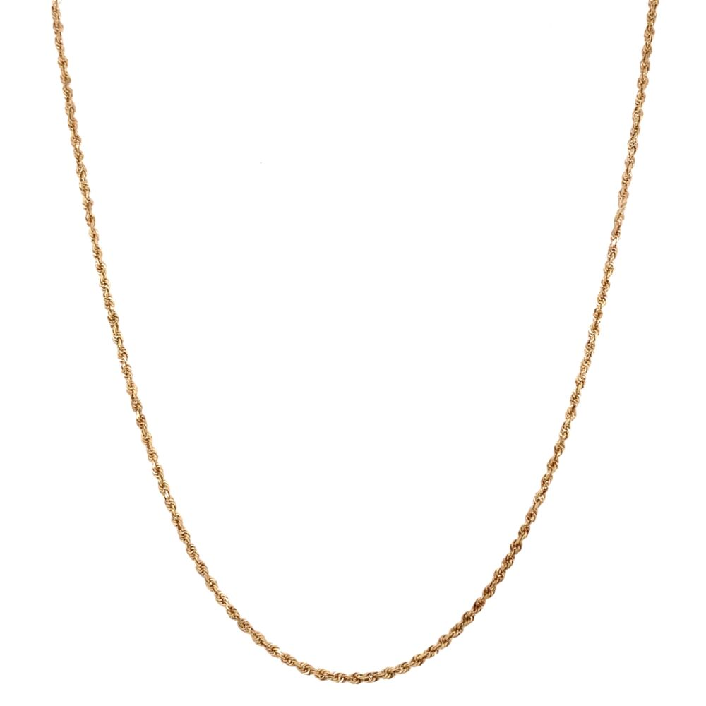 """Image 2 for 14K Yellow Gold Rope Chain 3.3g, 18"""""""