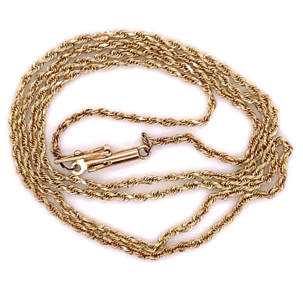 """14K Yellow Gold Rope Chain 3.3g, 18"""""""