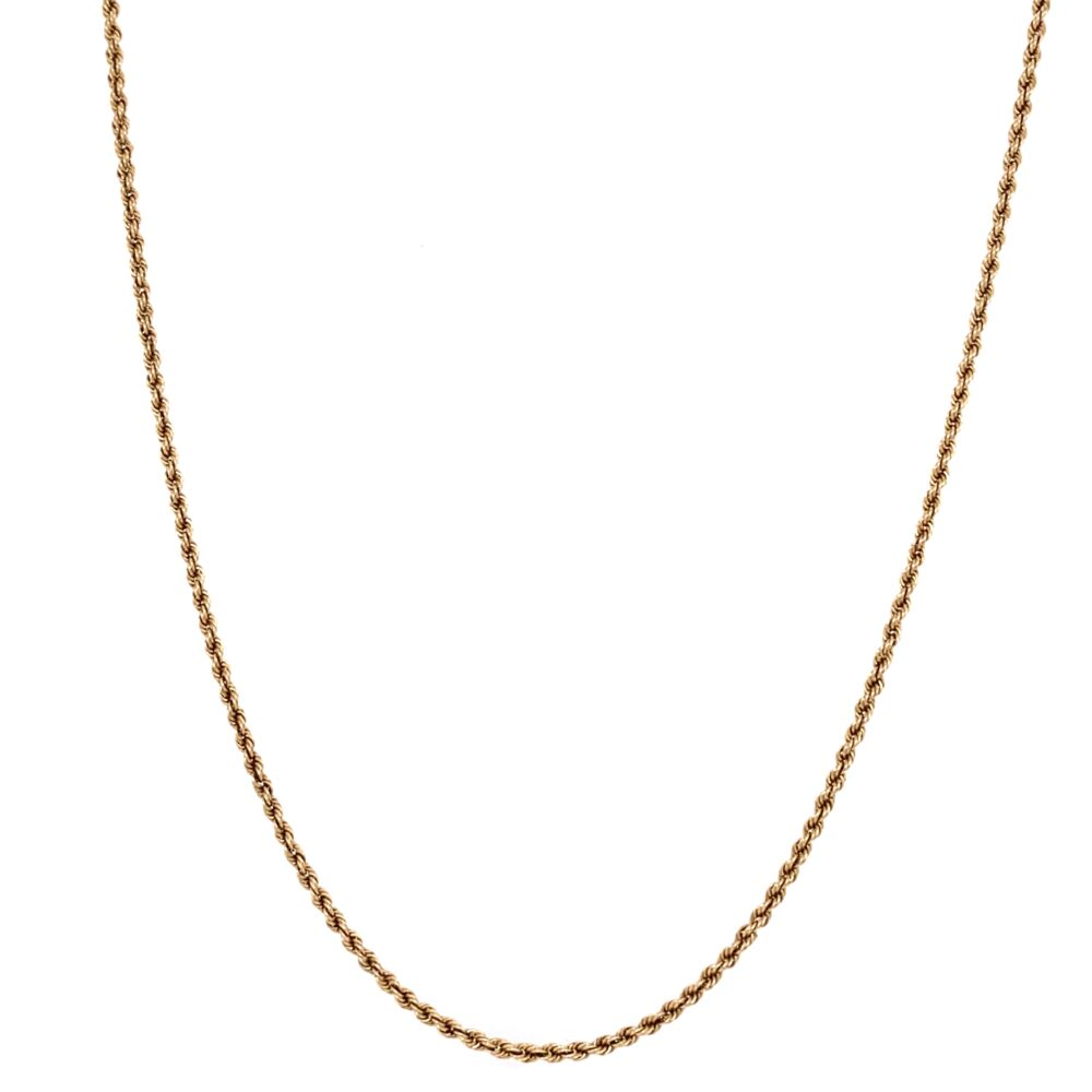"""Image 2 for 14K Yellow Gold Rope Chain 5.2g, 22"""""""