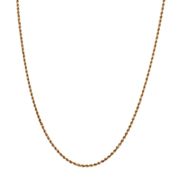 Closeup photo of 14K Yellow Gold Rope Chain 5.2g, 22""