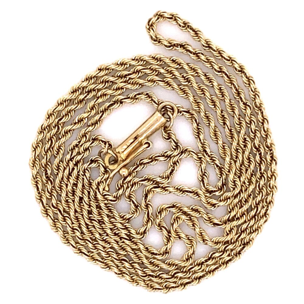 """14K Yellow Gold Rope Chain 5.2g, 22"""""""