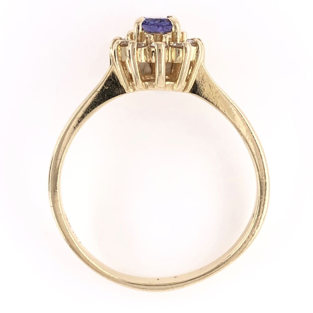 Image 2 for 14K Yellow Gold .40ct Oval Tanzanite & .20tcw Diamond Ring 3.3g, s7.5