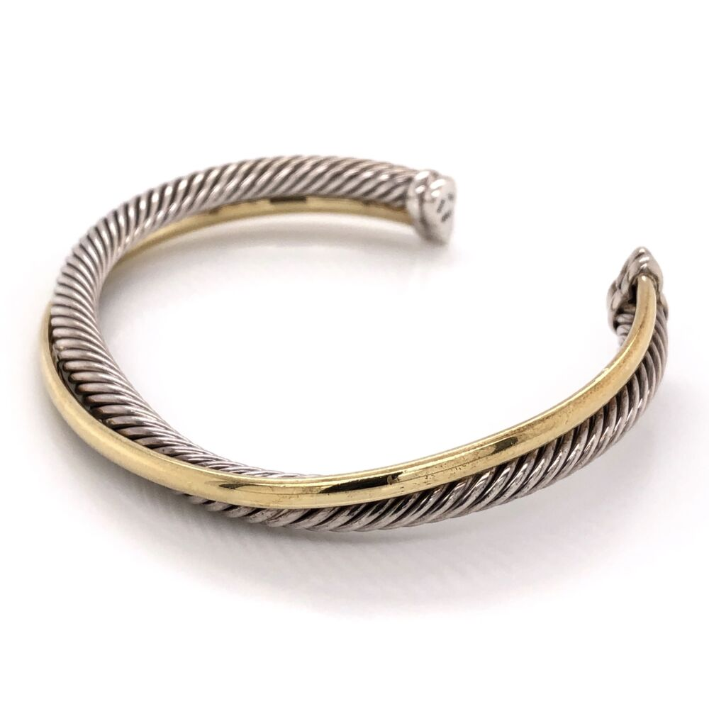 Image 2 for DAVID YURMAN 18K Yellow Gold & Sterling Wrap over Rope Cuff Bracelet 36.3g, s7
