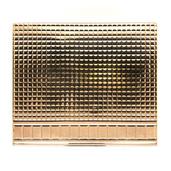 Closeup photo of 14K Yellow Gold Tobacco Case c1950's 144.4g