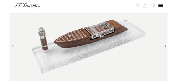 Closeup photo of S. T. Dupont Seven Seas SMOKING KIT Ligne 2 Prestige Cigar Lighter Set