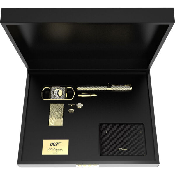 Closeup photo of ST Dupont James Bond 007 Collector Set - Gold - Limited Edition
