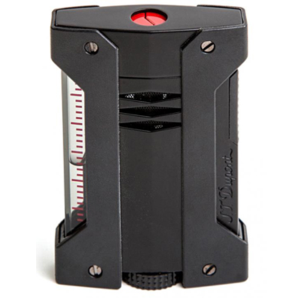 Closeup photo of S.T. Dupont Defi Extreme Matte Black Torch Lighter