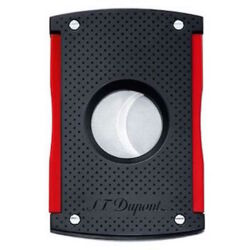 Closeup photo of S.T. Dupont MaxiJet Cigar Cutter, Black Punched Effect 3260
