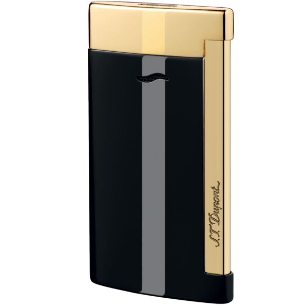 Closeup photo of S.T. Dupont Slim 7 Lighter Black/Gold