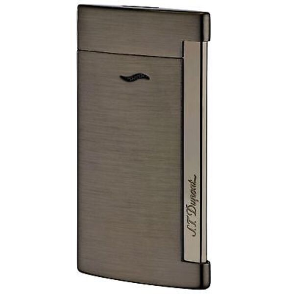 Closeup photo of S.T. Dupont Slim 7 Lighter Full Brushed Gunmetal