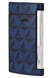 Closeup photo of S.T. Dupont Slim 7 Lighter Graphic Head/Blue