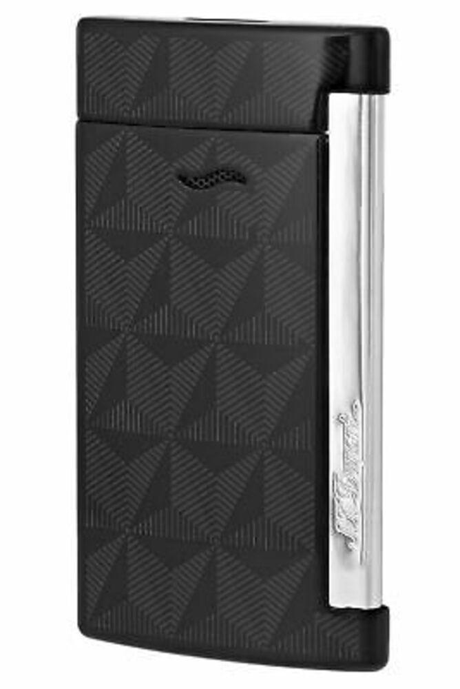 S.T. Dupont Slim 7 Graphic Head Lighter, Black, 027731