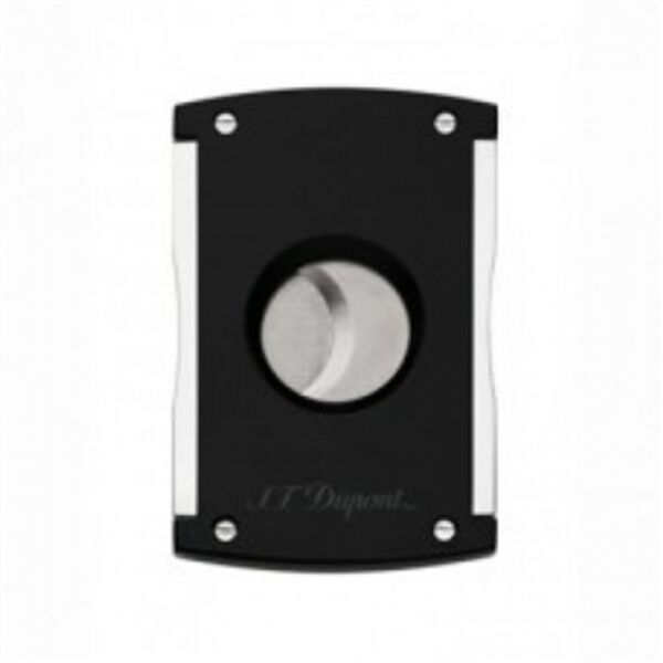 Closeup photo of S.T. Dupont Maxijet Black Lacquer Cigar Cutter