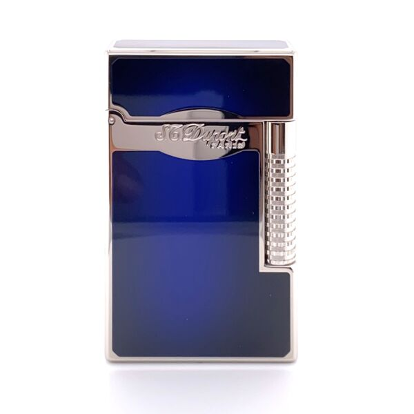 Closeup photo of S.T. Dupont Le Grand Sunburst Blue Finish Cigar Lighter