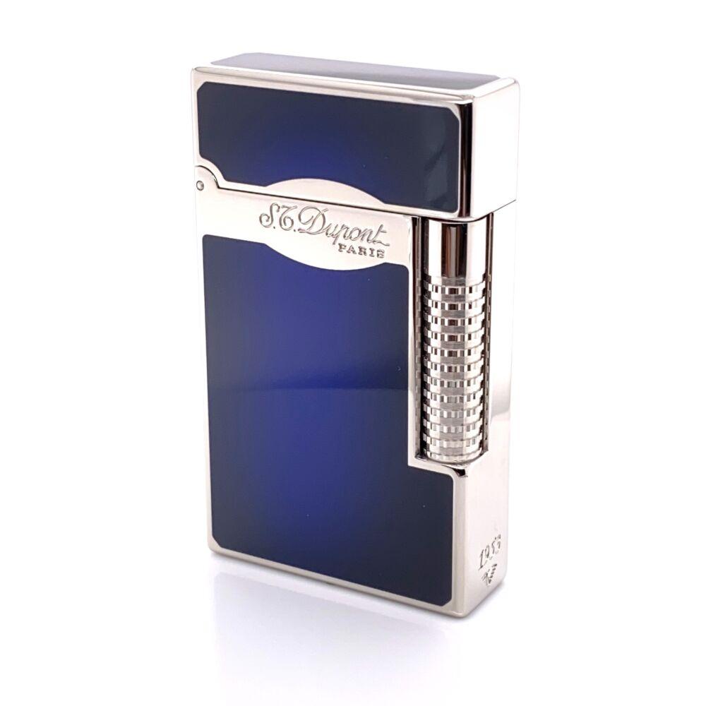 S.T. Dupont Le Grand Sunburst Blue Finish Cigar Lighter