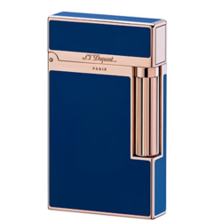 Closeup photo of ST Dupont Ligne 2 lighter blue Chinese lacquer