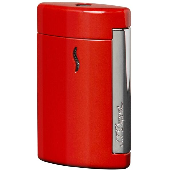Closeup photo of S.T. Dupont Minijet Torch Lighter Red/Chrome