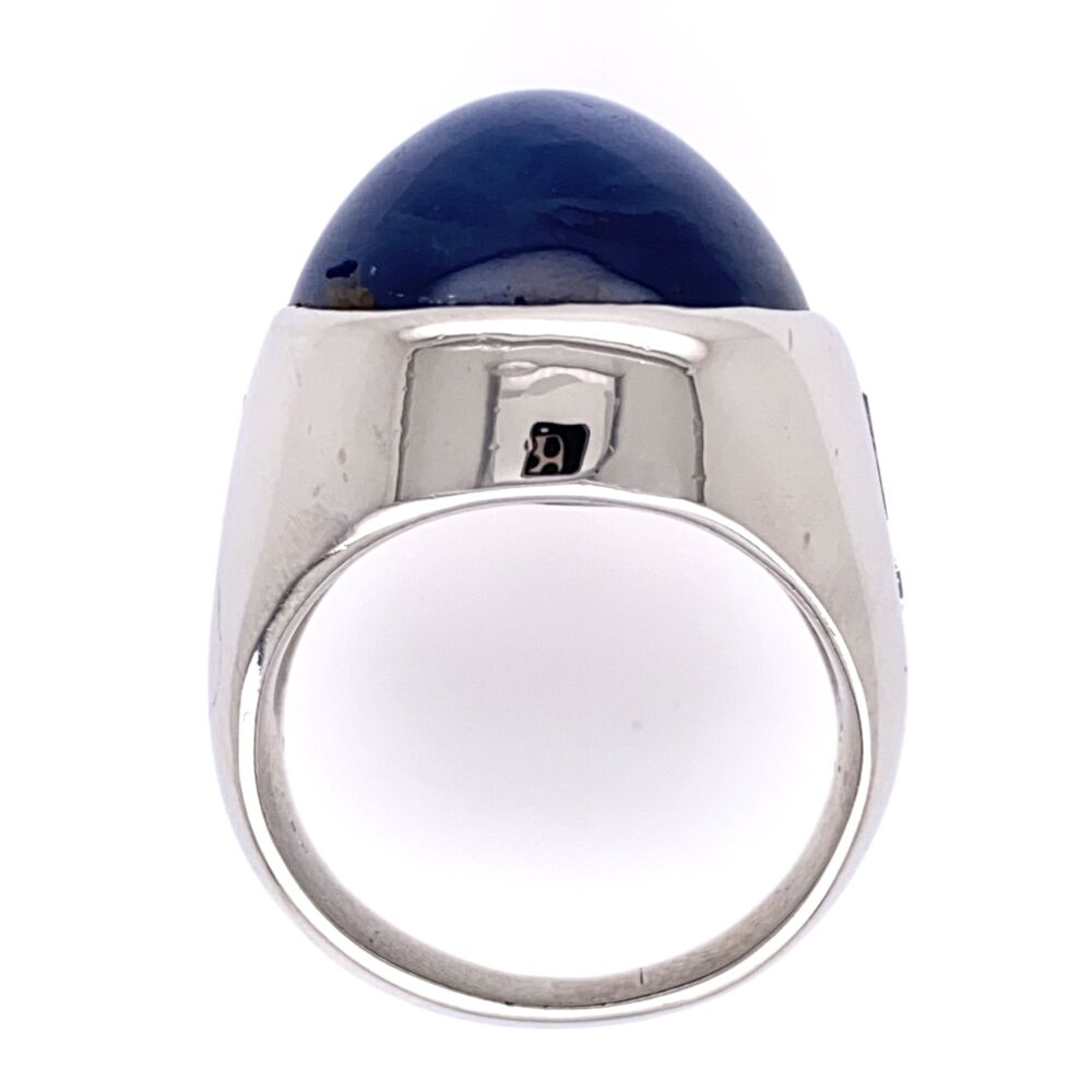 Image 2 for Platinum 39ct Star Sapphire Ring .75tcw Diamonds 32.9g, s7