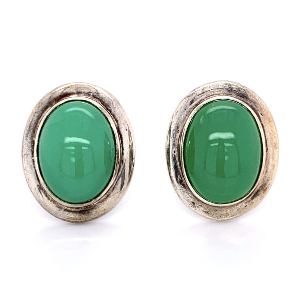 925 Sterling Silver TIFFANY & CO Chalcedony Earrings 13.2g