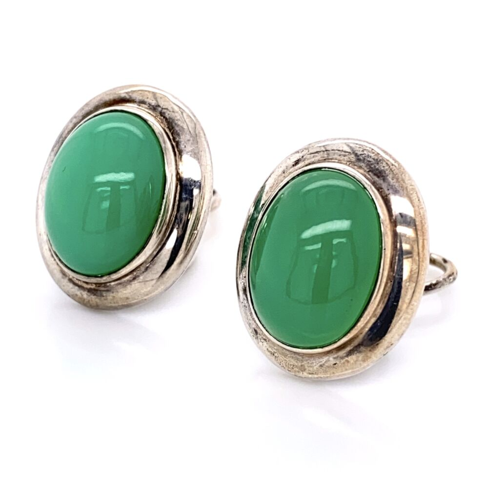 Image 2 for 925 Sterling Silver TIFFANY & CO Chalcedony Earrings 13.2g