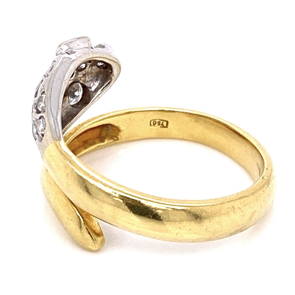 Image 2 for 18K Yellow Gold Diamond Snake Head Ring .25tcw, 5.3g, s6.75
