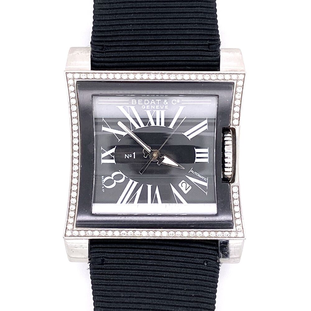 BEDAT Diamond Watch Reference 114 Stainless Steel 32x39mm