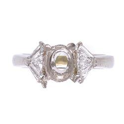 Closeup photo of Platinum SPARK Semimount .50tcw Diamonds 7.2g, s5.75