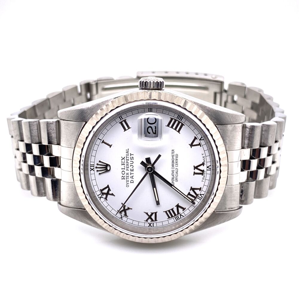 Image 2 for ROLEX 16234 36mm Gent Stainless Steel White Roman Numeral Diam
