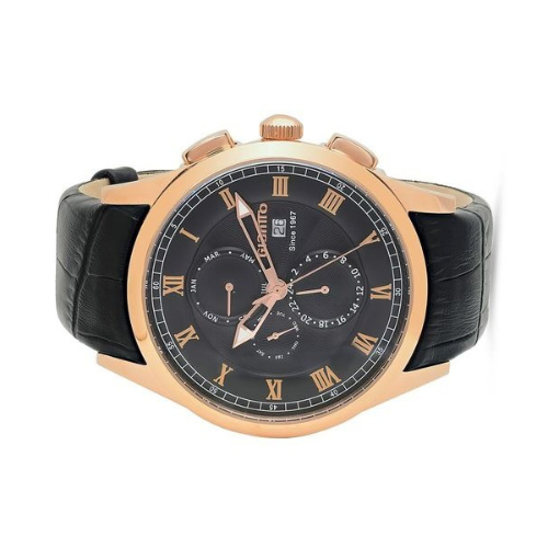 Closeup photo of Giantto Mens Stainless steel case rose gold IP Classic Watch