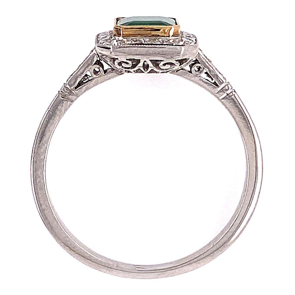 Image 2 for Platinum 1ct Emerald & .24tcw Diamonds 3.7g, s7
