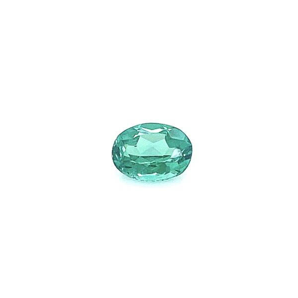 Closeup photo of Loose 1.10ct Oval Blue-Green Tourmaline 7.66x5.84x3.67