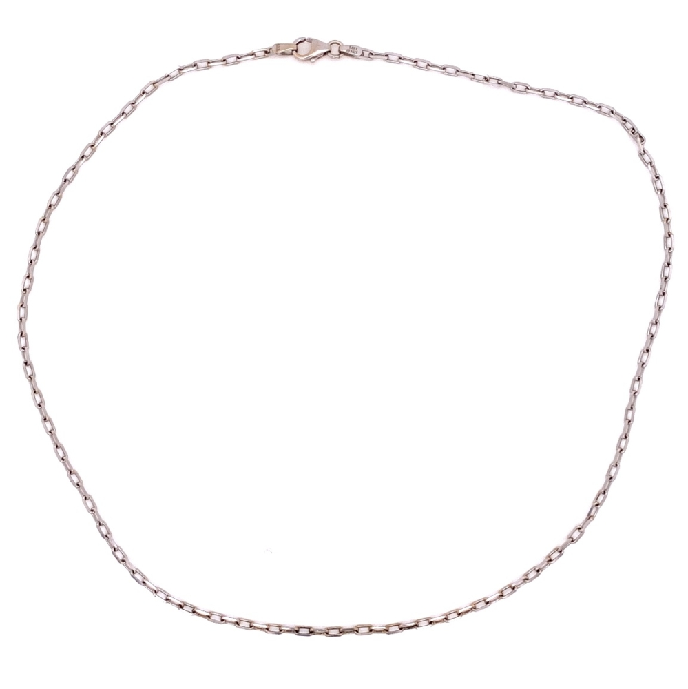 "Image 2 for 14K WG Polished Link Chain 4.5g, 16"" Long"