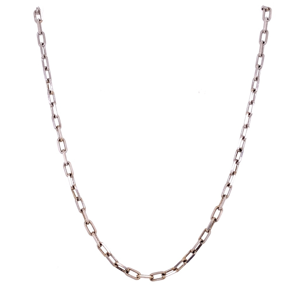 "14K WG Polished Link Chain 4.5g, 16"" Long"