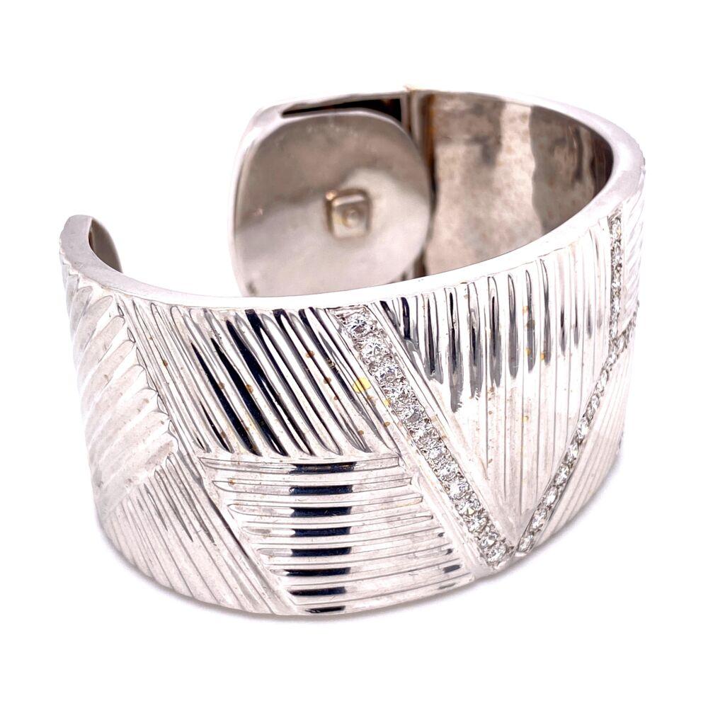 Image 2 for Wide Diamond Cuff