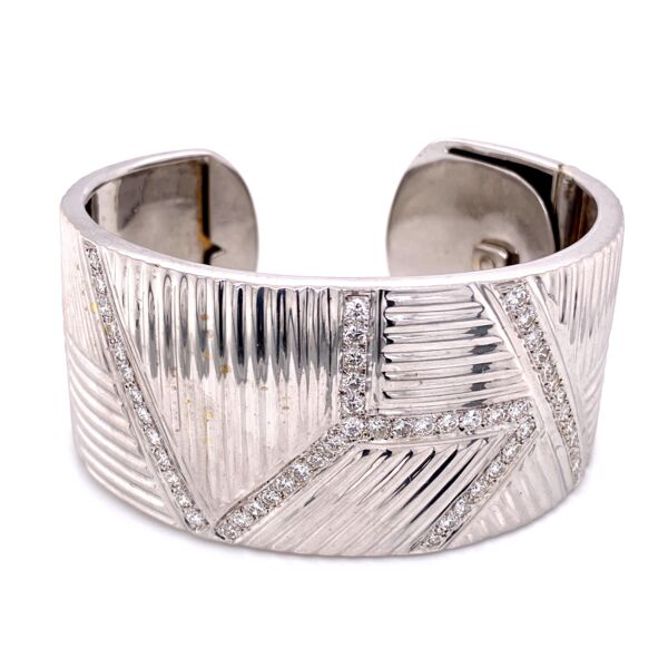 Closeup photo of Wide Diamond Cuff