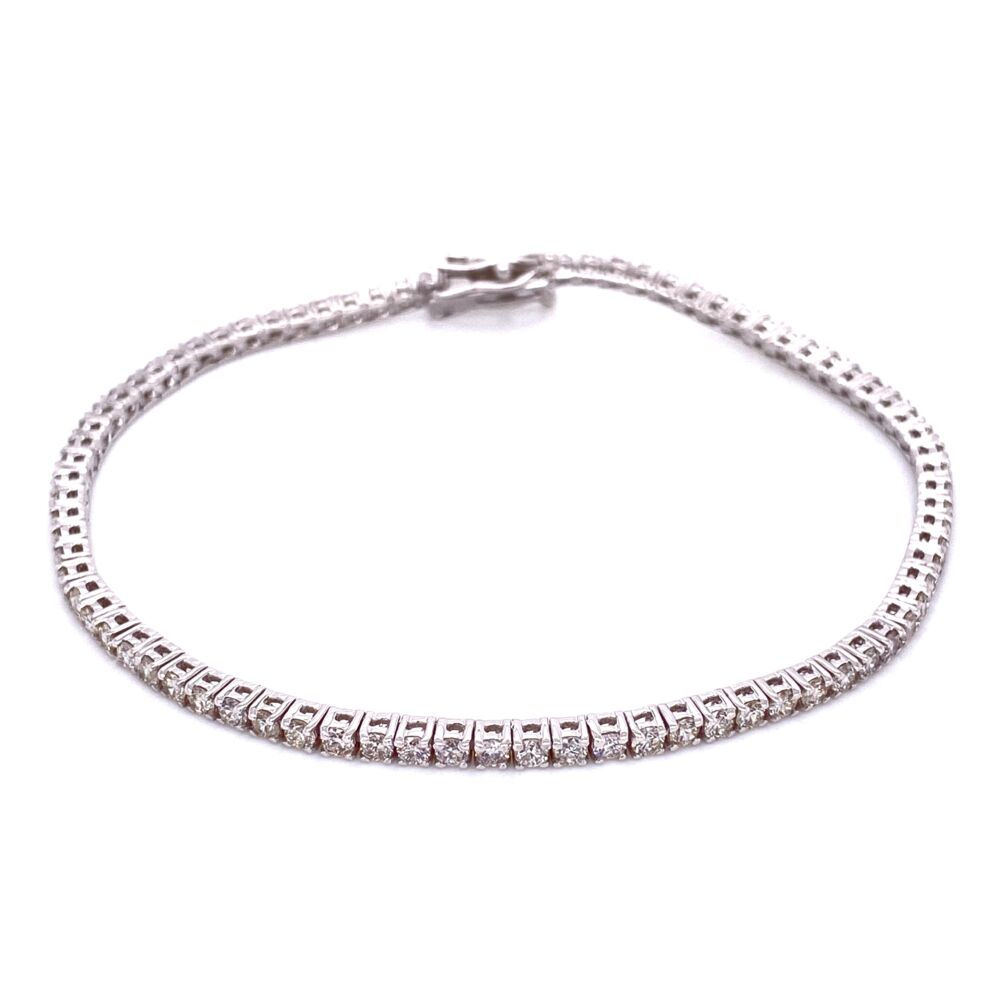 18K WG 4 Prong Diamond Tennis Bracelet 2.52tcw, 7.5g