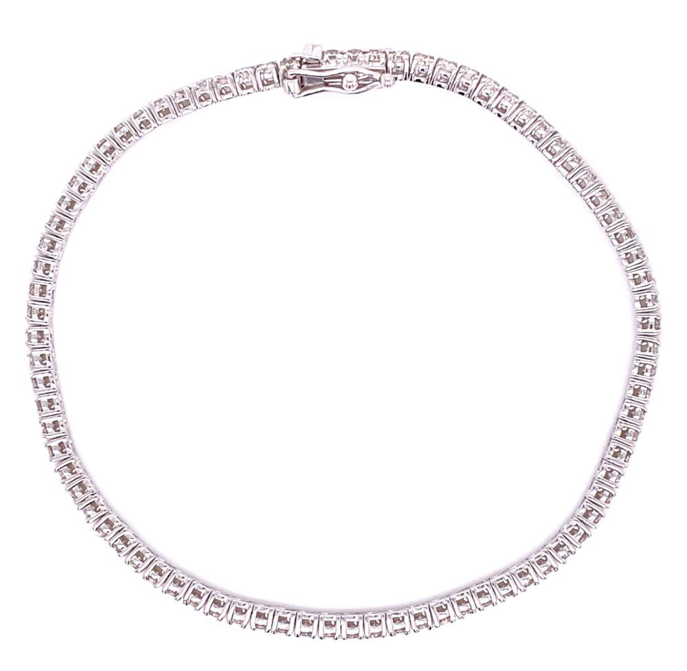 Image 3 for 18K WG 4 Prong Diamond Tennis Bracelet 2.52tcw, 7.5g