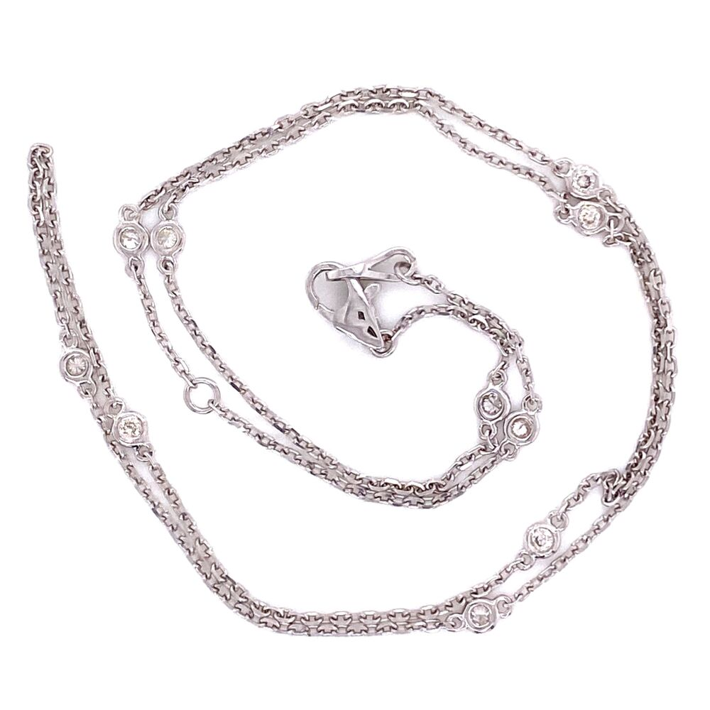 """Image 2 for 14K WG Diamonds by the Yard Necklace Chain 10=.25tcw, 2.6g, 18"""""""