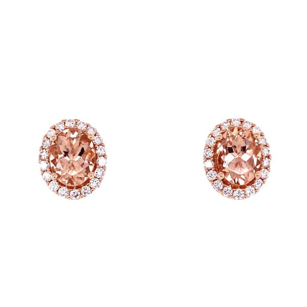 Closeup photo of Morganite & Diamond Earrings