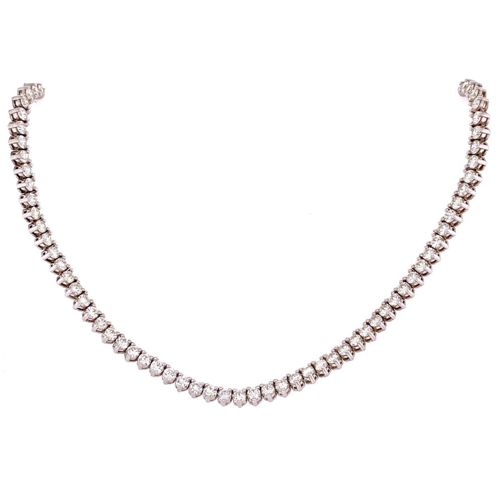 """Image 2 for 14K WG 3 Prong Diamond Tennis Necklace 19.53tcw, 39.3g, 36"""" Long"""