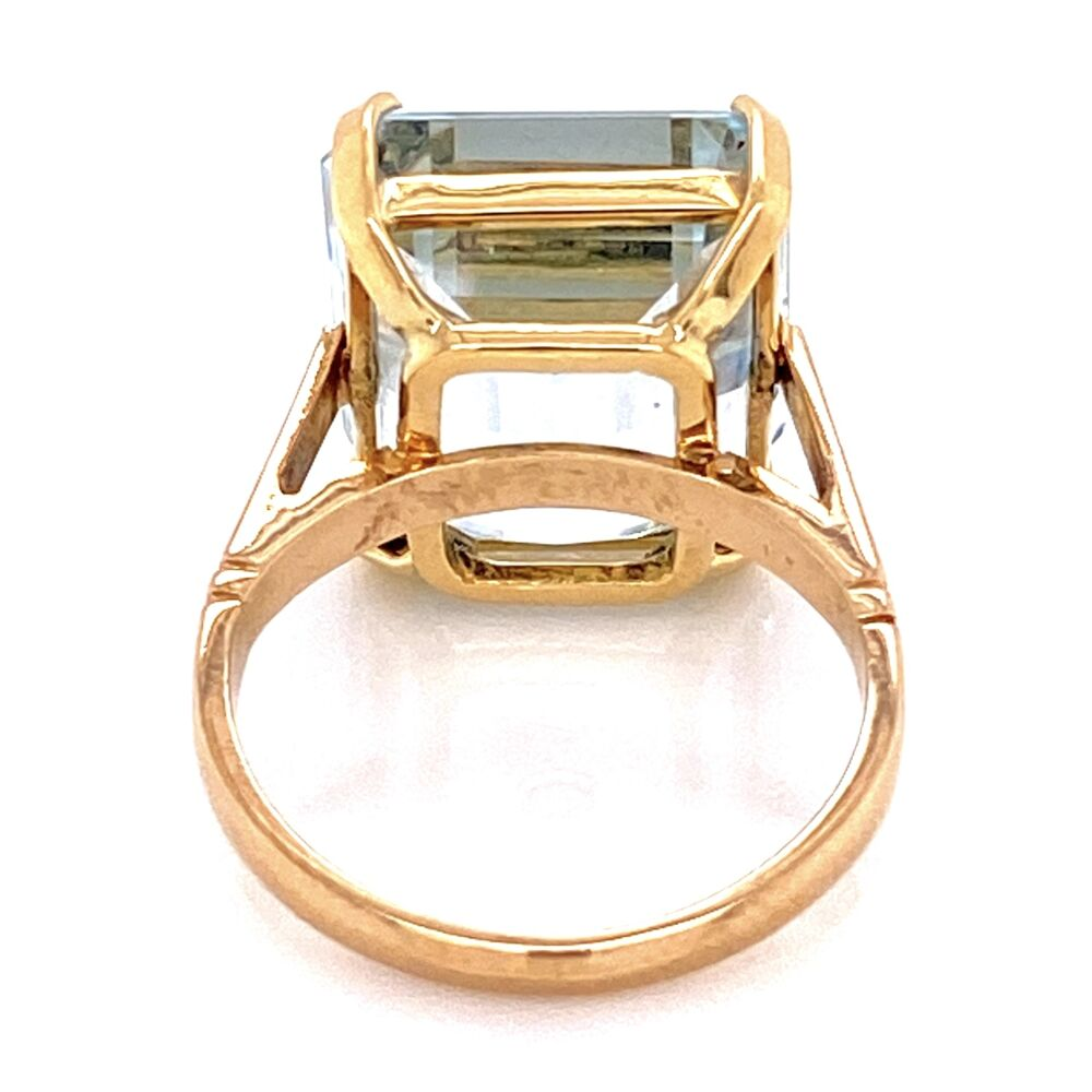 Image 2 for 18K YG 12ct Aquamarine Solitaire Ring, s4.5
